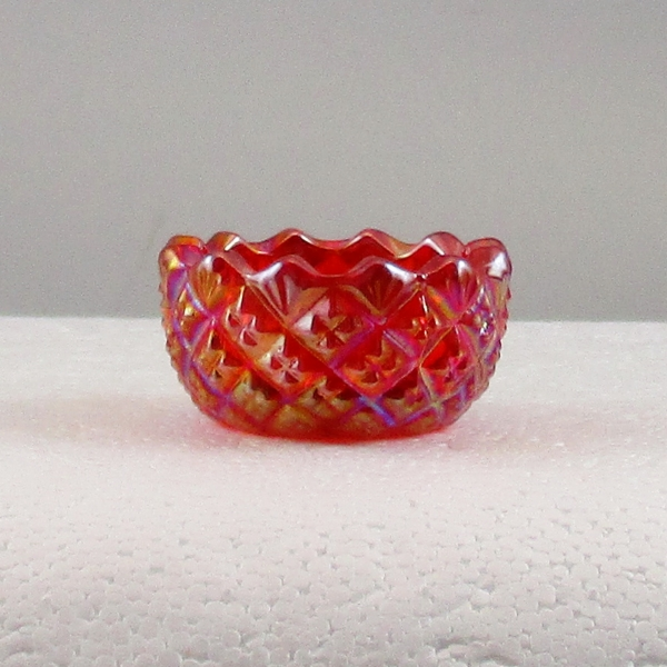 Mosser Red Carnival Glass #116 English Hobnail Individual Salt