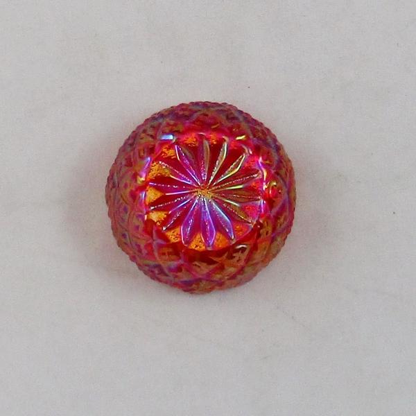 Mosser Red Carnival Glass #116 English Hobnail Individual Salt