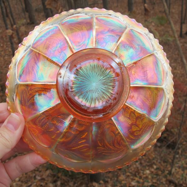 Antique Fenton Pinecone Marigold Carnival Glass Plate