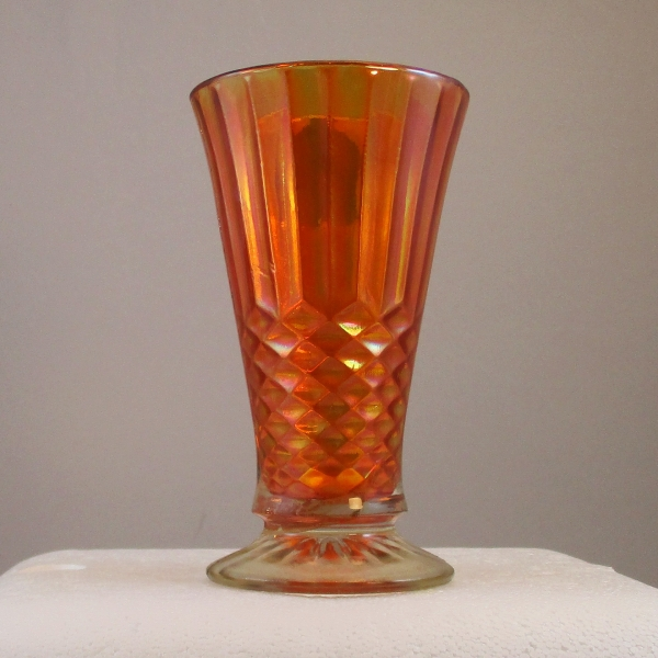 Antique US Glass Marigold Aunt Polly Carnival Glass Vase