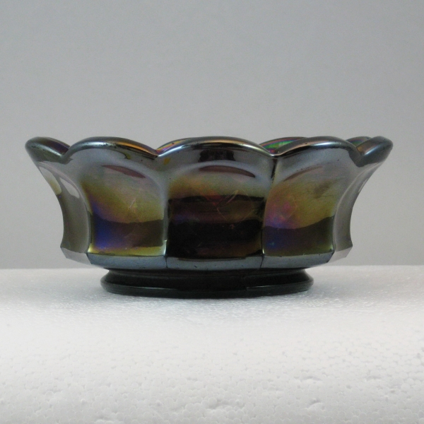 Antique Imperial Purple Heavy Grape Carnival Glass Sauce Bowl