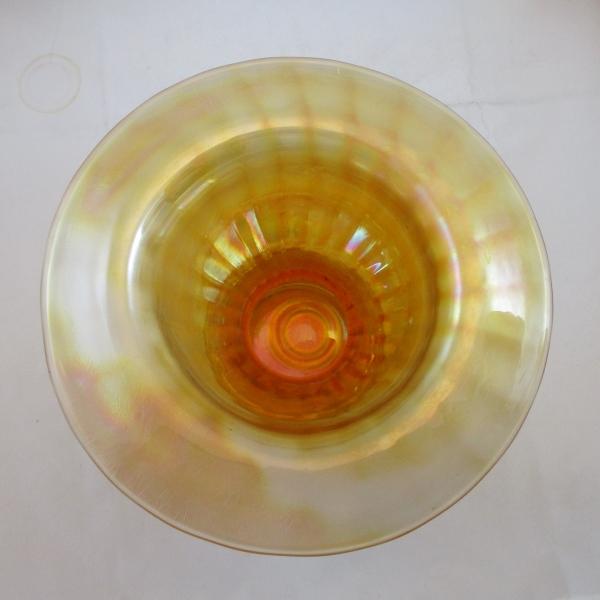 Antique Lancaster Marigold Stretch Optic Sweet Pea Vase