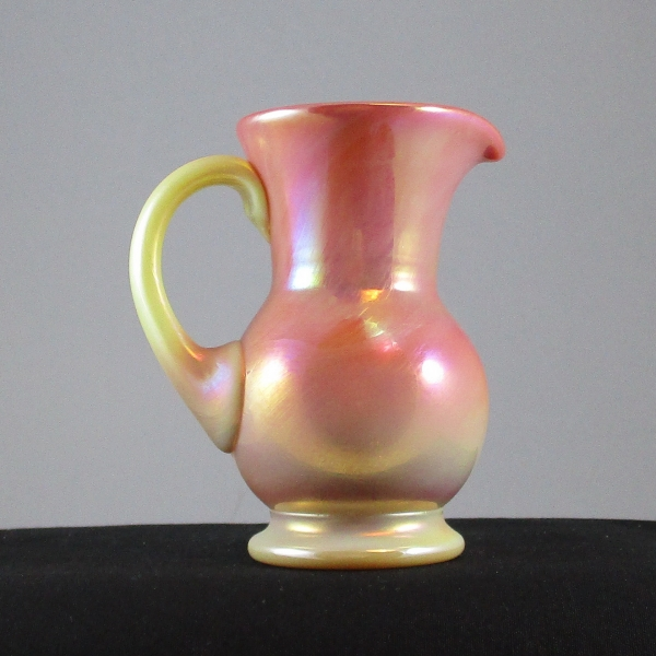 Gibson Pink Burmese Plain Carnival Glass Cream Pitcher
