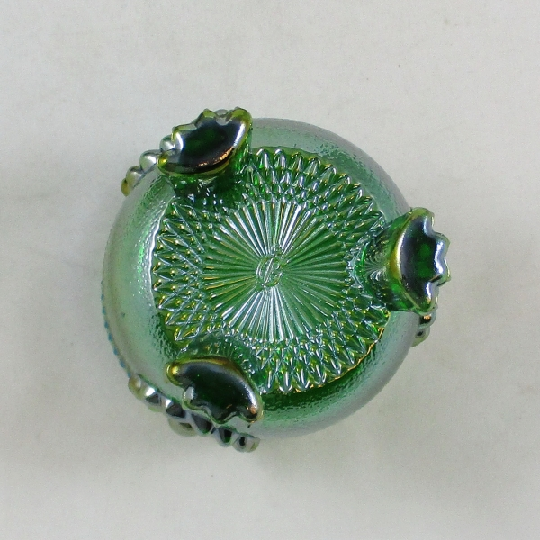 Pioneer Save Imperial Committee Green #1950/31 Carnival Glass Cream & Sugar Set