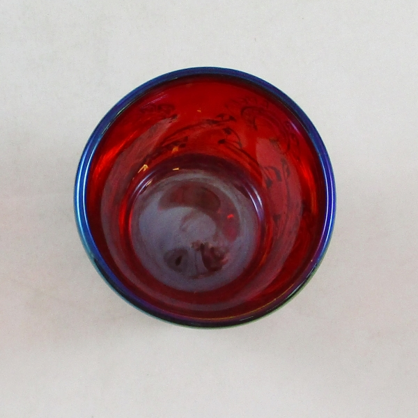 Fenton for HOACGA Red Good Luck Carnival Glass Shot Glass Bicentennial