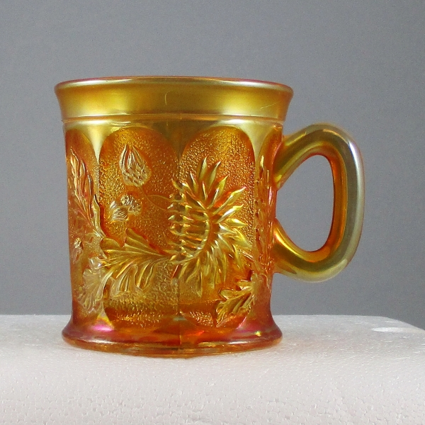 Antique Northwood Marigold Dandelion Carnival Glass Knights Templar Mug