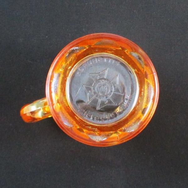 Antique Northwood Marigold Dandelion Carnival Glass Knights Templar Mug
