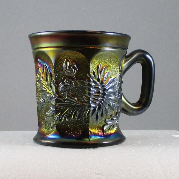 Antique Northwood Amethyst Dandelion Carnival Glass Mug