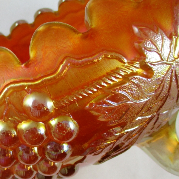 Antique Northwood Marigold Grape & Cable Carnival Glass Centerpiece Bowl