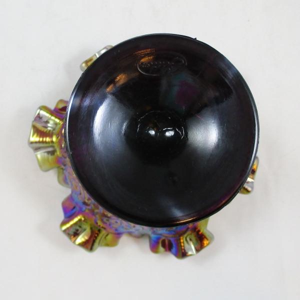 Fenton Amethyst Persian Medallion Carnival Glass Ruffled CRE Compote
