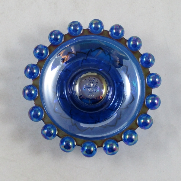 Imperial Ultra Blue Candlewick #170 Carnival Glass Candle Holder