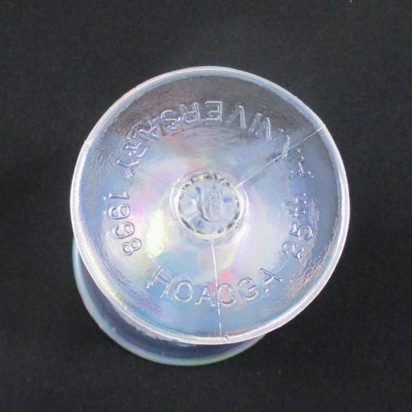 Fenton White Orange Tree Carnival Glass Flared Goblet 1998