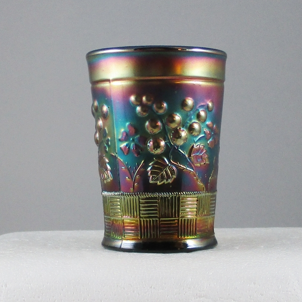 Antique Northwood Raspberry Amethyst Carnival Glass Tumbler
