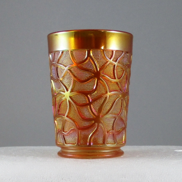 Antique Imperial Marigold Soda Gold Carnival Glass Tumbler
