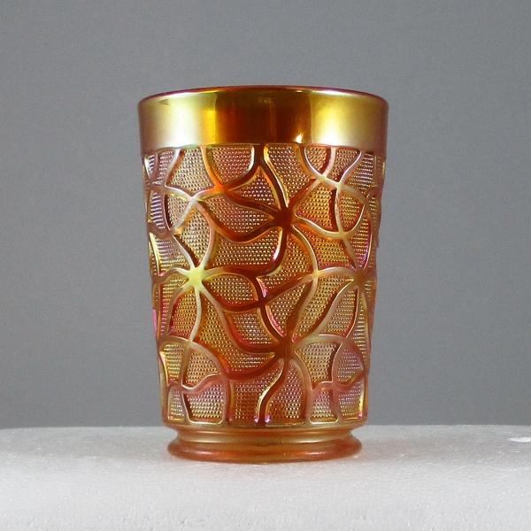 Antique Imperial Marigold Soda Gold Carnival Glass Tumbler