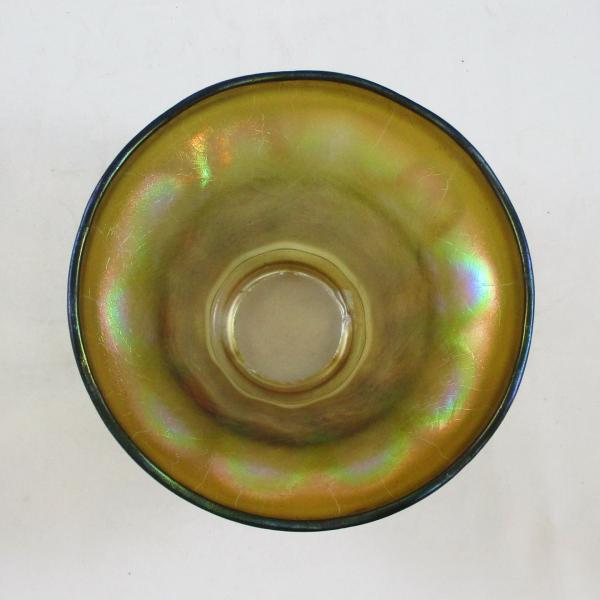 Antique Imperial Nuart #535 Short Light Optic Smoke Carnival Glass Lamp Shade