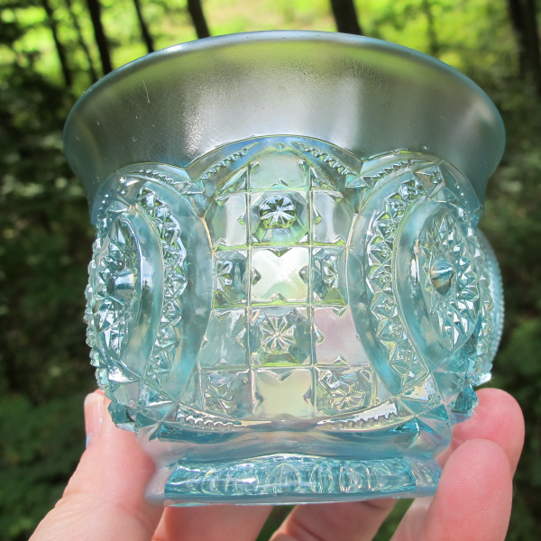 Antique Northwood Memphis Ice Blue Carnival Glass Punch Cup