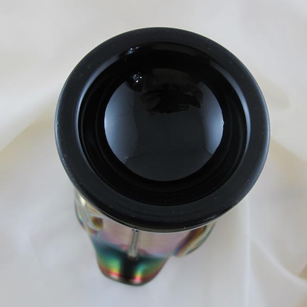 Antique Northwood Tornado Amethyst Carnival Glass Vase