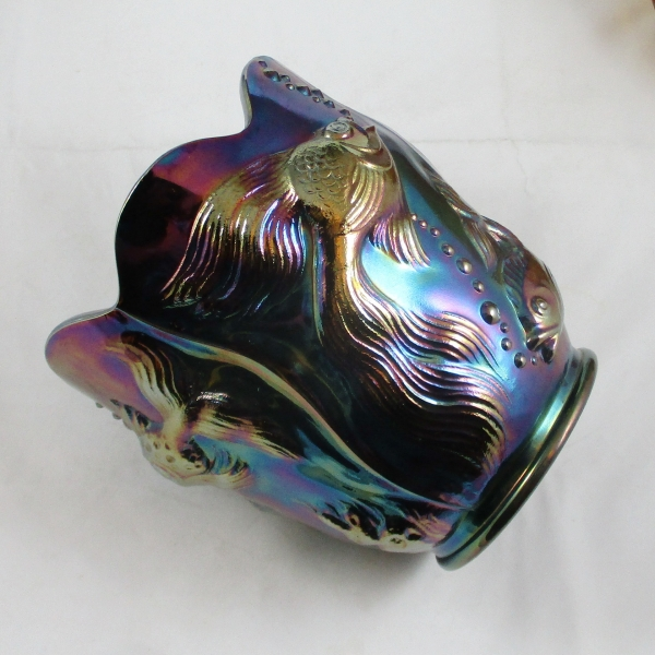 Fenton Amethyst Atlantis Carnival Glass Vase