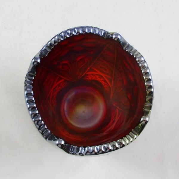 Imperial Red Four Seventy Four aka Mayflower #474 Carnival Glass Vase