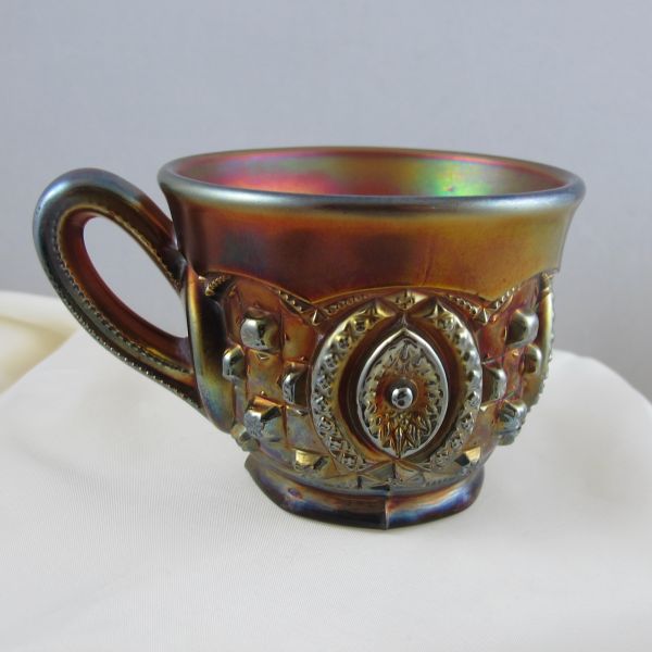 Antique Northwood Memphis Horehound? Carnival Glass Punch Cup