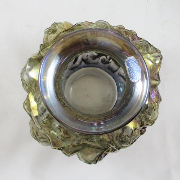 Imperial Smoke LaBella Rose #181 Carnival Glass Vase