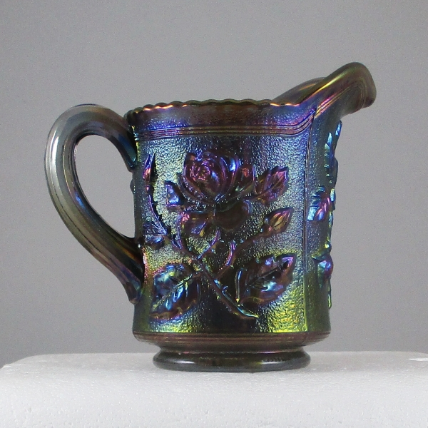 Imperial Smoke Lustre Rose Carnival Glass Creamer