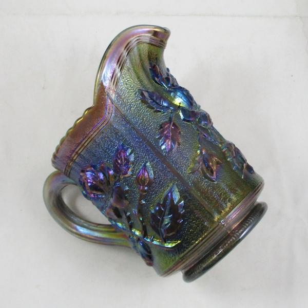 Imperial Smoke Lustre Rose Carnival Glass Creamer