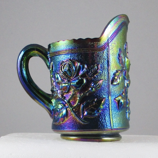 Summit Purple Lustre Rose Carnival Glass Whimsey Creamer