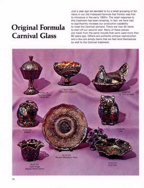 Fenton Amethyst Pinwheel Carnival Glass Large Compote