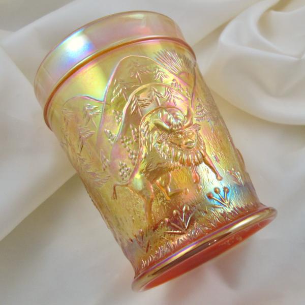 Terry Crider Marigold Westward Ho Carnival Glass Tumbler