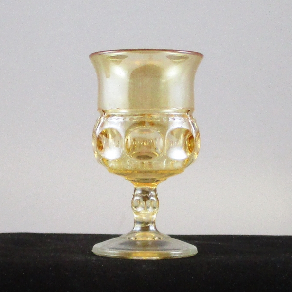 Antique US Glass Marigold Kings Crown Carnival Glass Wine