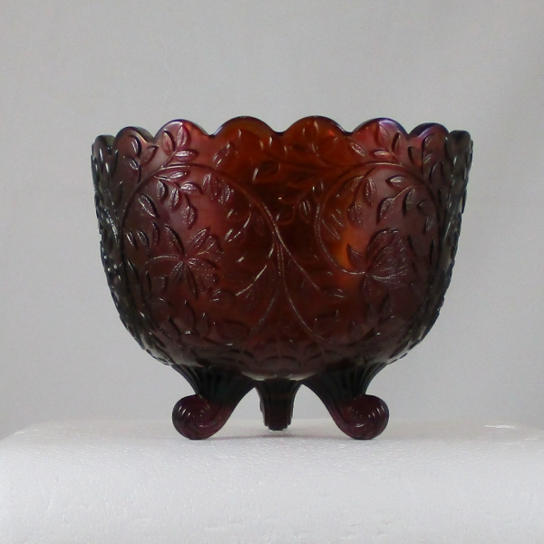 Antique Westmoreland Amethyst Louisa Carnival Glass Nut Bowl