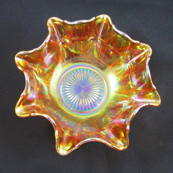 Antique Imperial Marigold Oval and Round Carnival Glass Bowl