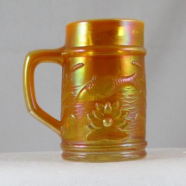 Fenton PNWCGC Peach Opal Fisherman's Carnival Glass Mug