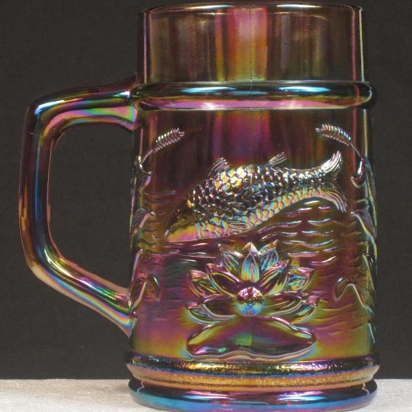 Fenton PNWCGC Lavender Fisherman's Carnival Glass Mug