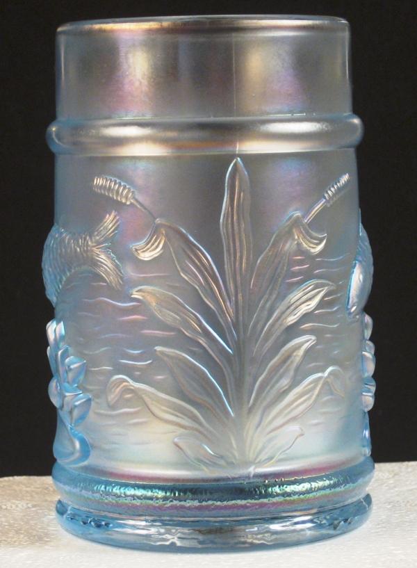 Fenton PNWCGC Ice Blue Fisherman's Carnival Glass Mug