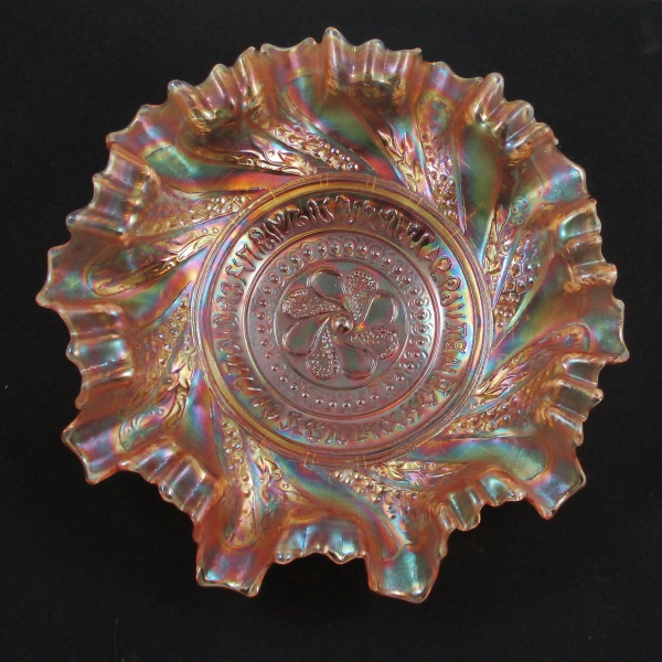 Antique Dugan Roundup Marigold Carnival Glass 3 in 1 Bowl