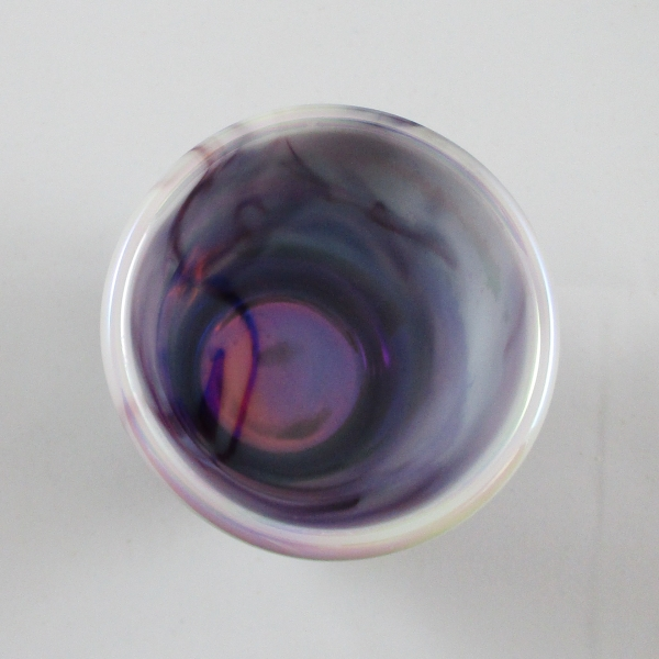 Westmoreland for Levay Purple Slag #500 Checkerboard Carnival Glass Tumbler