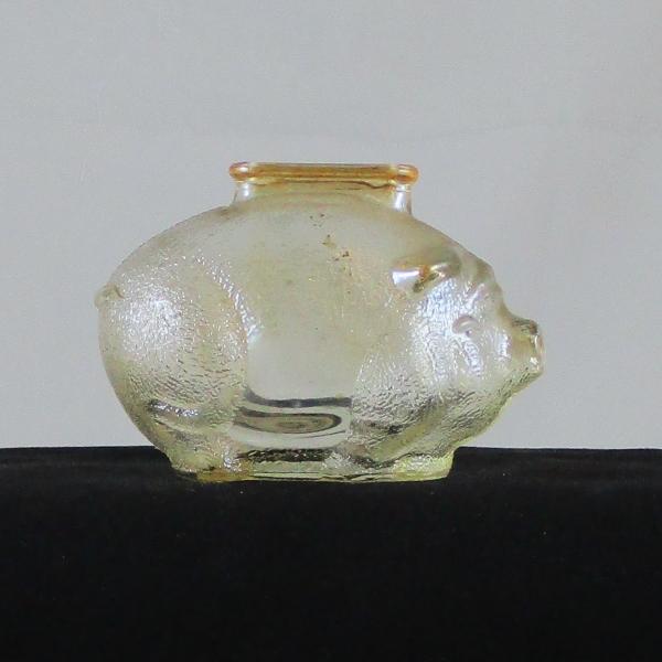 Anchor Hocking Marigold Pig Carnival Glass Small Piggy Bank
