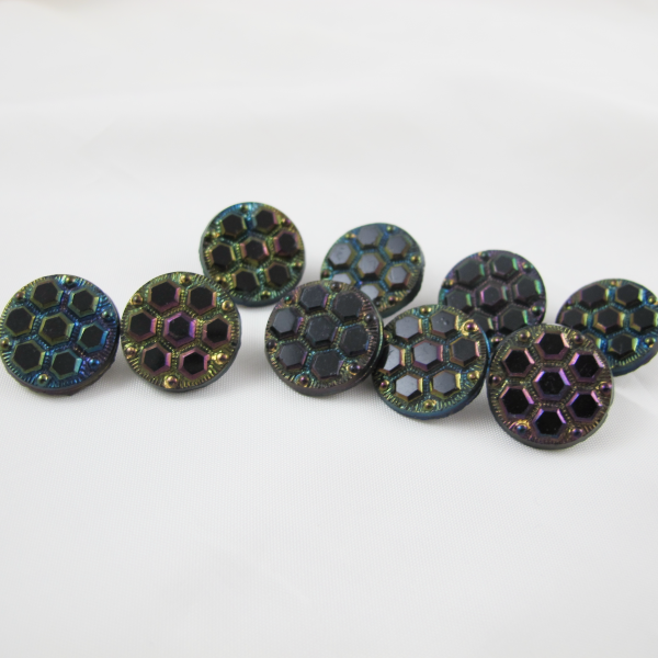 Antique Carnival Glass Buttons