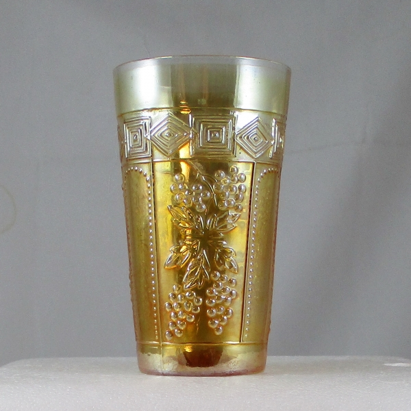 Antique Jain? Muscadine Marigold Carnival Glass Tumbler