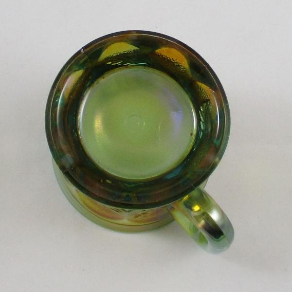 Antique Northwood Aqua Opal Dandelion Carnival Glass Mug