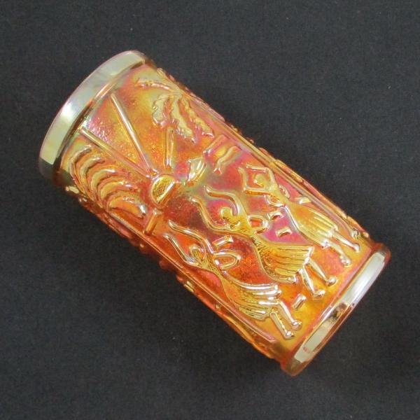 Imperial Marigold Aloha Carnival Glass Tumbler or Ice Tea