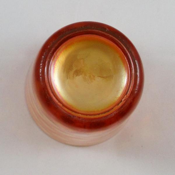 Antique Fenton Inverted Coin Dot Marigold Carnival Glass Tumbler
