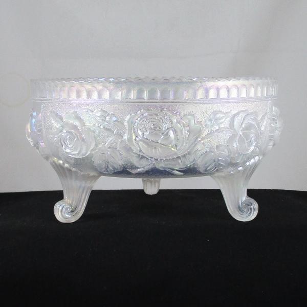 Imperial White Lustre Rose Carnival Glass Fernery