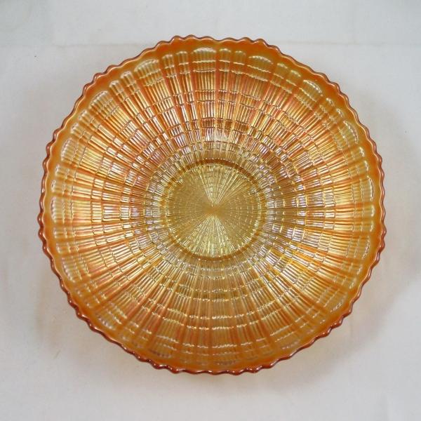 Antique Fenton Marigold Plaid Carnival Glass ICS Bowl