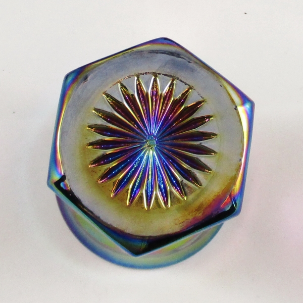 Westmoreland for Levay Purple Colonial Flute Carnival Glass Tumbler