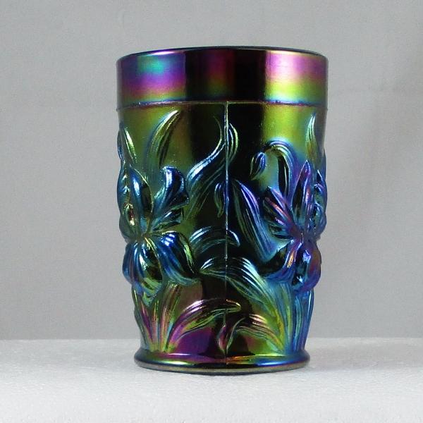 L. G. Wright Purple Heavy Iris Carnival Glass Tumbler