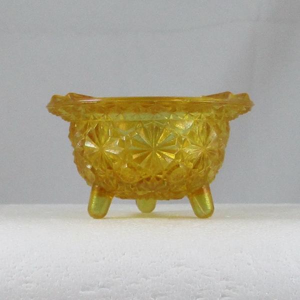 LE Smith Marigold Carnival Glass Caldron #17 Ashtray Kettle